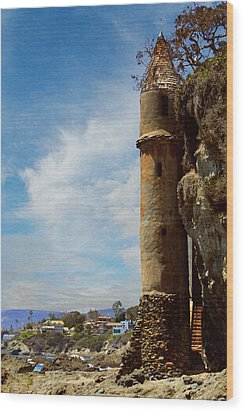 Wood Print featuring the photograph Laguna Beach Tower by Glenn McCarthy Art and Photography
