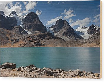Laguna Chiar Khota In Condoriri Mountains Wood Print