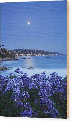 Laguna Moonrise Wood Print