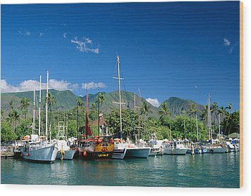 Lahaina Harbor - Maui Wood Print by William Waterfall - Printscapes