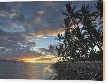 Lahaina Sunset Wood Print