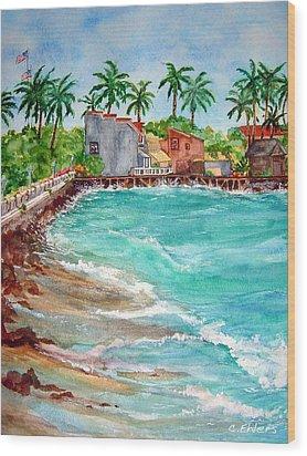 Lahina Bay Maui Wood Print by Cheryl Ehlers