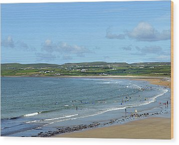 Wood Print featuring the photograph Lahinch Beach by Terence Davis