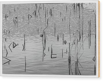 Lake Abstract Wood Print by Carolyn Dalessandro