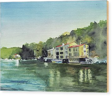 Lake Ann Reston Va Wood Print by Paul Temple