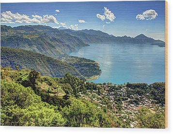 Lake Atitlan Wood Print by John Loreaux