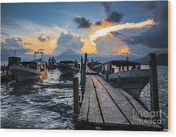 Wood Print featuring the photograph Lake Atitlan by Yuri Santin