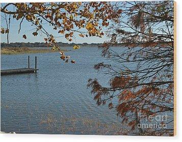 Wood Print featuring the photograph Lake Bonny Autumn by Carol  Bradley