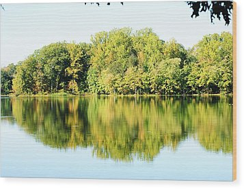Lake Briddle Wood Print by Heidi Poulin