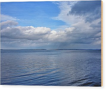Wood Print featuring the photograph Lake Champlain From New York by Brendan Reals