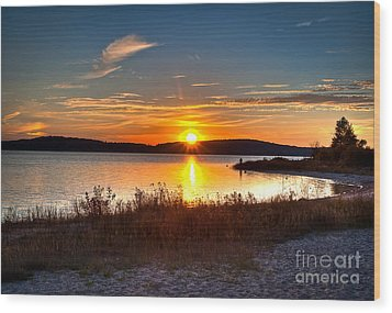 Lake Charlevoix Sunset Wood Print
