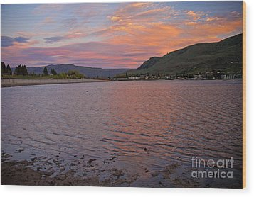 Lake Chelan Sunset Wood Print by Cindy Murphy - NightVisions