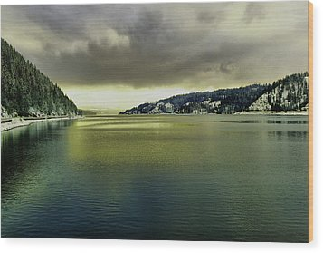 Wood Print featuring the photograph Lake Coeur D' Alene by Jeff Swan