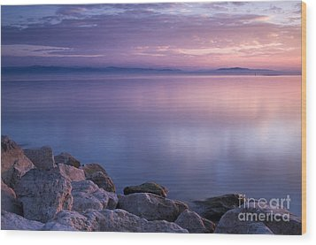 Lake Constance Wood Print by Silke Magino