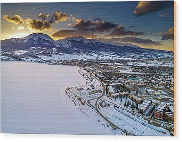 Wood Print featuring the photograph Lake Dillon Sunset by Sebastian Musial