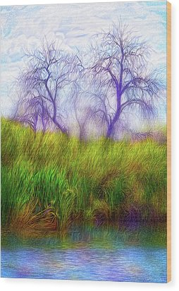 Lake Dream Peace Wood Print