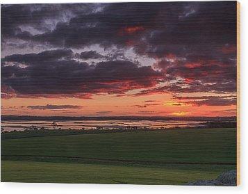 Lake Dumbleyung Sunset Wood Print