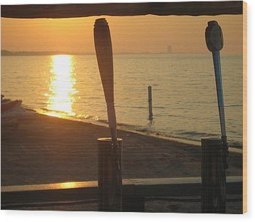 Lake Erie On Tap Wood Print by Toni Jackson