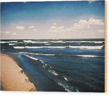 Lake Erie Whitecaps  Wood Print by Shawna Rowe