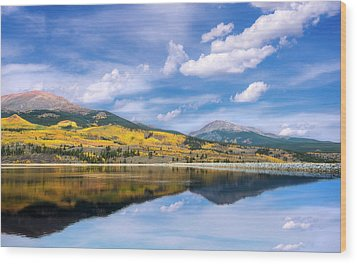 Wood Print featuring the photograph Lake Forebay Reflections by Tim Reaves