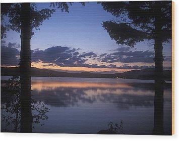 Lake Francis Twilight Wood Print by John Burk