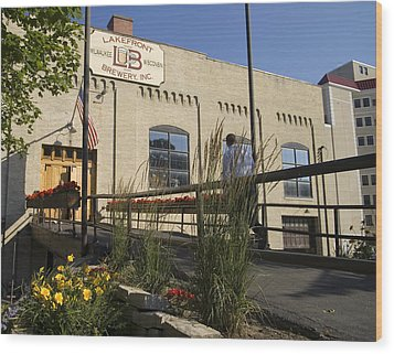 Lake Front Brewery Wood Print by Peter Skiba