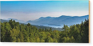 Lake George, Ny And The Adirondack Mountains Wood Print