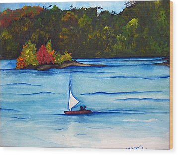 Lake Glenville  Sold Wood Print by Lil Taylor