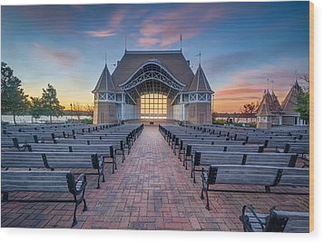 Lake Harriet Bandshell Wood Print