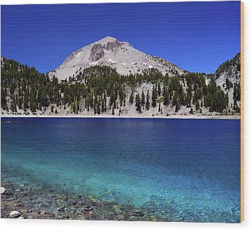 Wood Print featuring the photograph Lake Helen Mount Lassen 2 by Frank Wilson