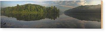 Lake Hope Sunrise Panorama Wood Print