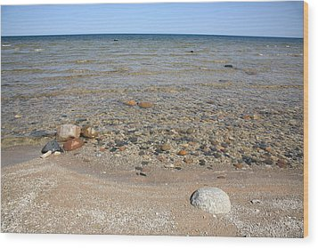Lake Huron Wood Print by Frank Romeo