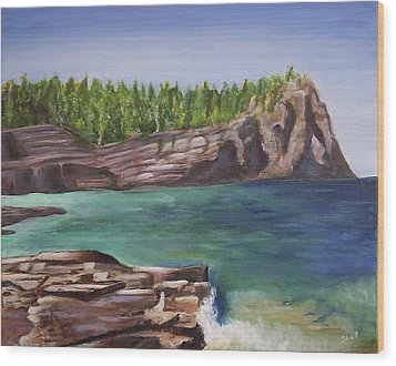 Lake Huron Wood Print by Silvia Philippsohn