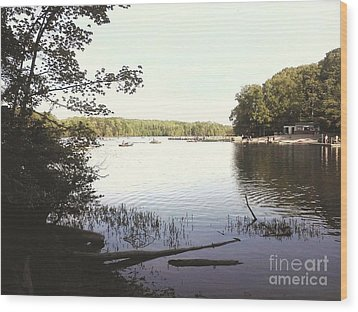 Lake At Burke Va Park Wood Print