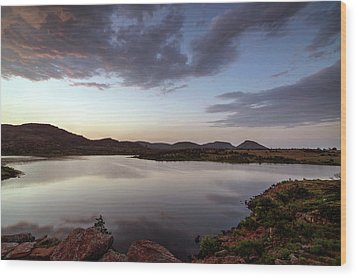 Lake In The Wichita Mountains  Wood Print