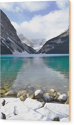 Lake Louise Beauty Wood Print by Andrea Hazel Ihlefeld