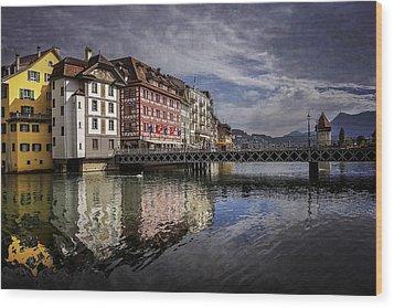Lake Lucerne  Wood Print by Carol Japp