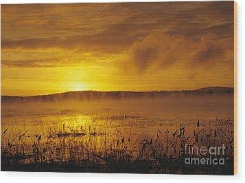Lake Massabesic - Auburn New Hampshire Usa Wood Print by Erin Paul Donovan