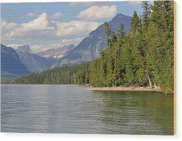 Lake Mcdonald Wood Print by D Nigon