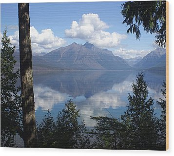 Lake Mcdonald Glacier National Park Wood Print by Marty Koch