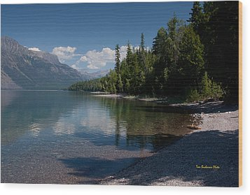 Lake Mcdonald Montana Wood Print by Tom Buchanan
