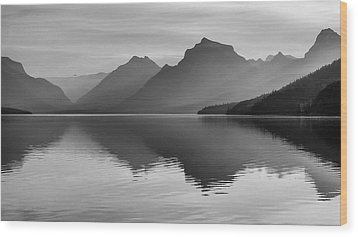 Lake Mcdonald Wood Print by Monte Stevens