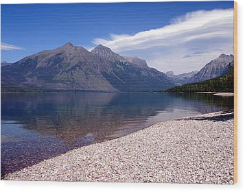 Lake Mcdonald Reflection Glacier National Park 4 Wood Print by Marty Koch