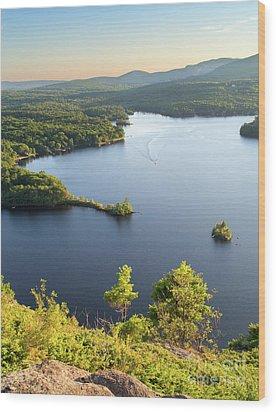 Lake Megunticook, Camden, Maine  -43960-43962 Wood Print