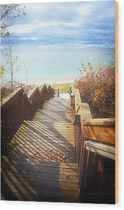 Wood Print featuring the photograph Lake Michigan In The North by Michelle Calkins