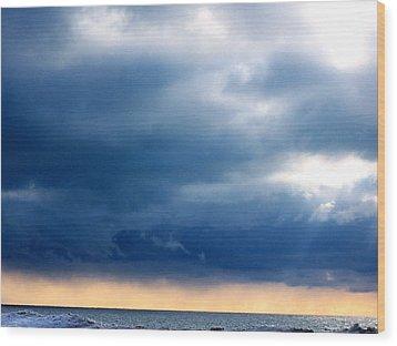 Lake Michigan Sky Wood Print by Andrew Jagniecki
