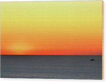 Lake Michigan Sunrise Wood Print by Zawhaus Photography