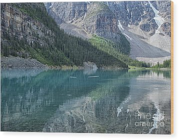 Wood Print featuring the photograph Lake Moraine by Patricia Hofmeester