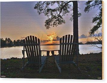 Lake Murray Relaxation Wood Print