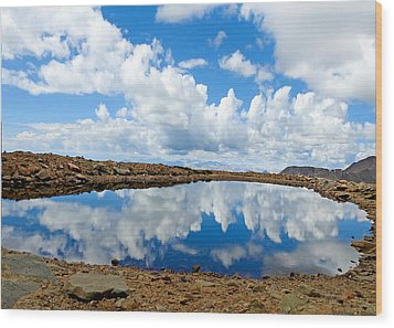 Lake Of The Sky Wood Print